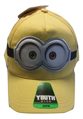 [Despicable Me 2 Minion Youth Baseball Hat (Two Eyed)] (Despicable Me Minion Hats)