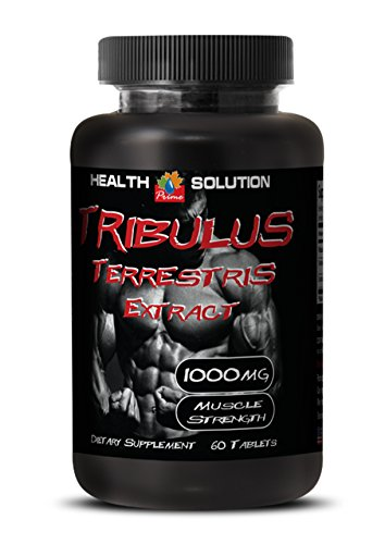 Testosterone booster and fat burner for men - MUSCLE STRENGTH - TRIBULUS TERRESTRIS EXTRACT 1000mg - Tribulus terrestris extract - 1 Bottle 60 Tablets Ext Burner