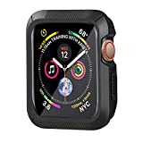 YUSHUANG Compatible with Apple Watch Case 40mm Series 4, Shock-Proof and Shatter-Resistant Compatible with Apple Watch Protector, Replacement for iWatch case - Black