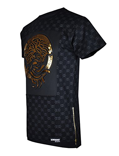 screenshotbrand-751-mens-hipster-hip-hop-premiun-tees-luxury-longline-embossed-gold-print-t-shirts-m