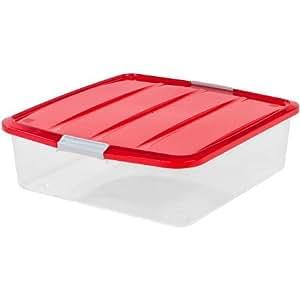 "Amazon.com: 20"" Wreath Storage Box, Red: Home & Kitchen"