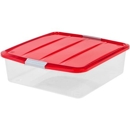 20'' Wreath Storage Box, Red