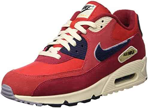 classic fit 6bae8 6ccd4 Nike Mens Air Max 90 Premium SE Running Shoes, University RedProvence  Purple,