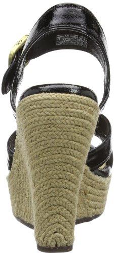 UGG Jackilyn - Tira de tobillo de cuero mujer Negro