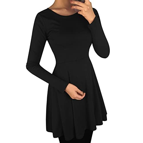 b0ddeccd4 Fit and flare dress Plus Size Womens Basic Skater Dress free shipping