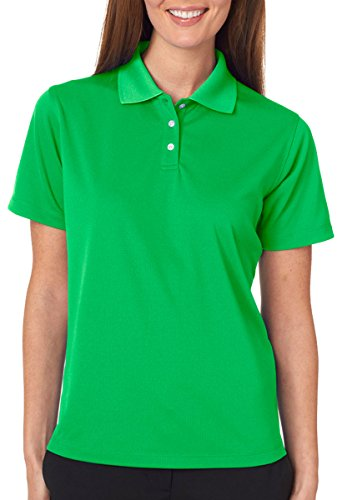 East Coast Pet Supplies (UltraClub Ladies' Cool & Dry Stain-Release Performance Polo XS Cool Green)