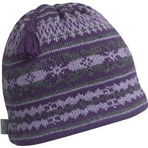 Turtle Fur Women's Nighthorse, Classic Wool Knit Ski Tassel Beanie, Aubergine