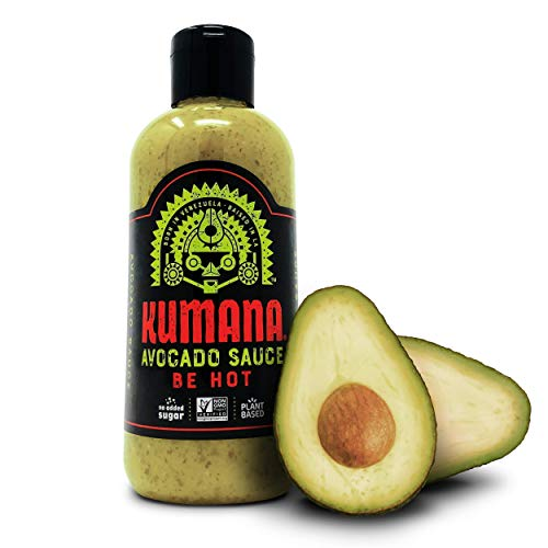 Kumana Avocado Hot Sauce. A Keto Friendly Hot Sauce made with Ripe Avocados, Mango and Habanero Peppers. Ketogenic & Paleo. Gluten Free, No Added Sugar & Low Carb. 13.1 Ounce Bottle. 1