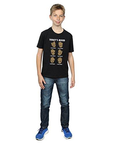 para Guardian humor of de el Camiseta the The hoy de color de Galaxy Groot de Boy Marvel negro qvxpxtwX