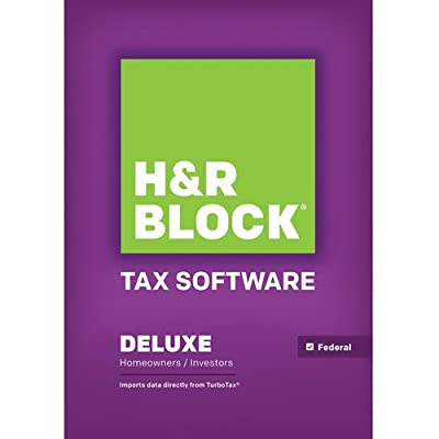 H&R Block Tax Software Deluxe 2013 Federal
