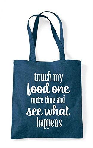 Touch One Time More My Petrol Bag Statement Tote Food Shopper SWPqTnaS