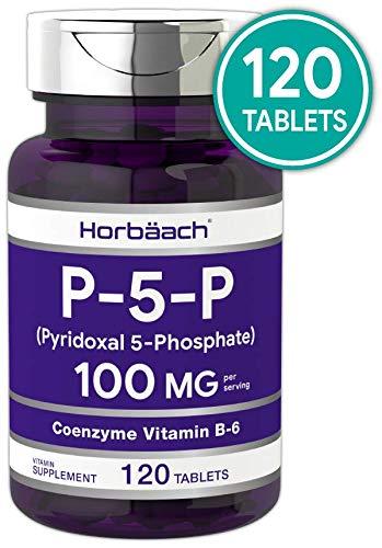 Horbaach P5P Activated Vitamin B6 100 mg 120 Tablets | Vegetarian, Non-GMO, Gluten Free | Pyridoxal-5-Phosphate | Coenzymed Vitamin B6 (Vitamin B6 P5p)