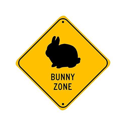 Dwarf Bunny Zone; pet rabbit novelty sign, aluminum, 6