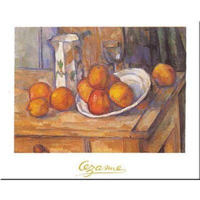 Paul Cezanne Kettle Glass and Fruit Art Print Poster - 16x20 custom fit with RichAndFramous Black 20 inch Poster Hangers