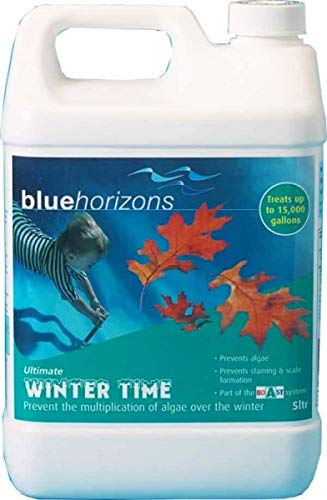 BLUE HORIZONS 5L WINTER TIME LONG LIFE ALGAECIDE WINTERISER (Treats 15,000 gallons) - FREE DELIVERY UK CPC LTD