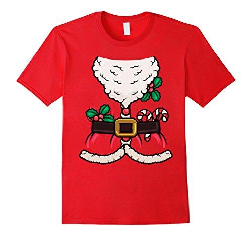 Mens Santa Claus Merry Christmas Saint Nicholas Nick T Shirt 3XL Red - St Nicholas Costume