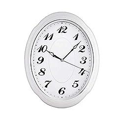 Living Room Quartz Wall Clock, Silent Home Wall Clock, Oval