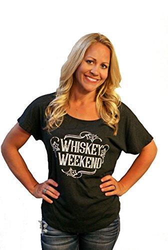 - Tough Little Lady Whiskey Weekend Womens Shirt Short Sleeve Tshirt Blk Dolman,MD