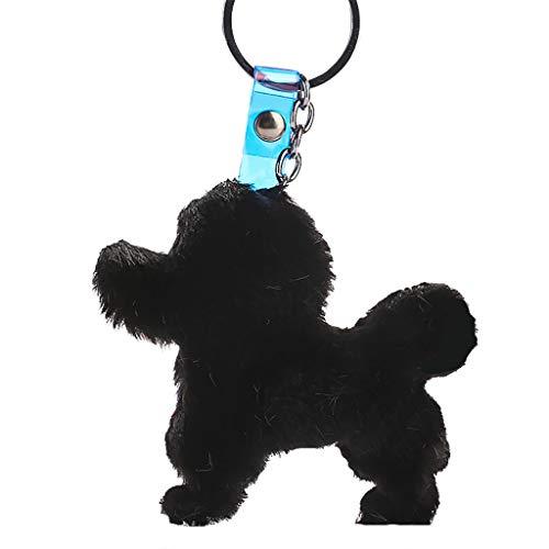 (LIM&Shop Plush Keychain Pom Pom Pendant Hanging Key Ring Rope Colorful Bag Pendant Bag Holder Doll Girls Gifts)