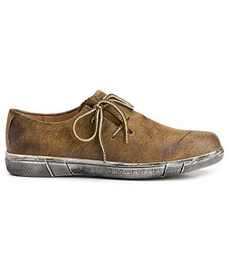 Trachtenschuhe 1110 - bequeme Trachten Sneakers von Stockerpoint, der Experte für Trachtenmode und Trachten, hochwertige Haferlschuhe bzw. Trachtenschuhe in Havanna, 42
