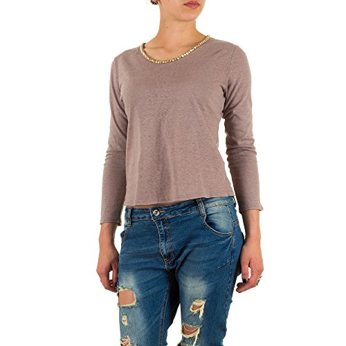 Ital-Design - Camiseta - para mujer marrón claro