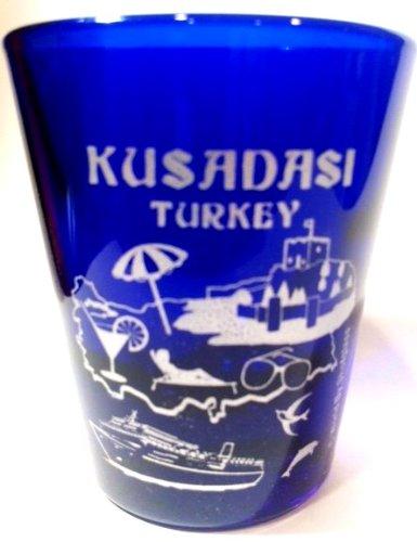 Kusadasi Turkey Cobalt Blue Shot Glass (Best Souvenirs From Turkey)