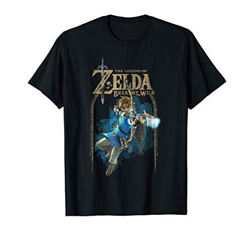 Zelda Breath Of The Wild Link Arch Shot Logo Graphic T-Shirt