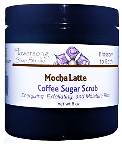 Mocha Latte Coffee Sugar Scrub - Energizing, Exfoliating, and Moisture Rich -