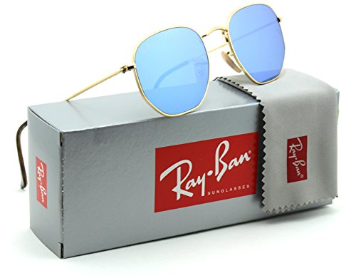Ray-Ban RB3548N Hexagonal Flat Lenses Unisex Sunglasses 001/9O - - Hexagonal Ban Ray