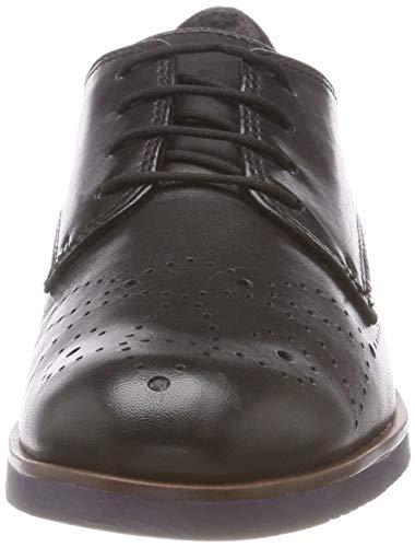 Mujer de Oxford Black Negro Zapatos Cordones 23208 31 Tamaris 1 para tUq0q1HZ