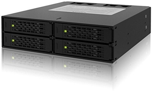 """Icy Dock Rugged Full Metal 4 Bay 2.5/"""" SATA HDD and SSD Backplane Cage MB994SP"""