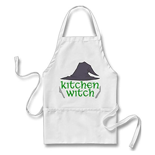 Custom it for you Funny Apron Kitchen Witch White, One Size Fits Most
