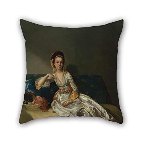 (beeyoo 16 X 16 Inches / 40 by 40 cm Oil Painting George Willison - Nancy Parsons in Turkish Dress Pillow Shams Twice Sides is Fit for Girls Outdoor Kids Deck Chair Home Office Shop)