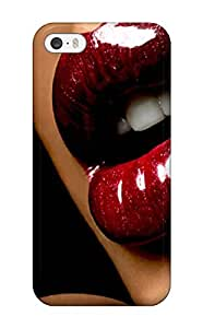 Flexible Tpu Back Case Cover For Iphone 5/5s - Cherry Red