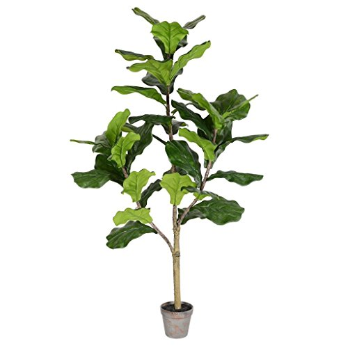 Vickerman TB180248 Green Potted Fiddle Everyday Tree
