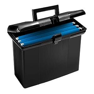 Oxford Portfile Portable File Box, Black, 11 x 14 x 6-1/2 Inches (41732)