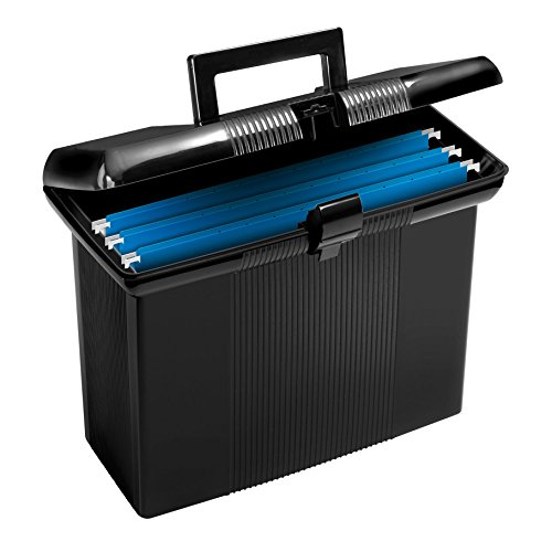Pendaflex Portable File Box, Black, 11