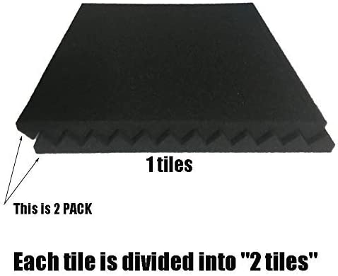 black//purple 52 Pack 1 x 12 x 12 Black//purple Acoustic Wedge Studio Foam Sound Absorption Wall Panels