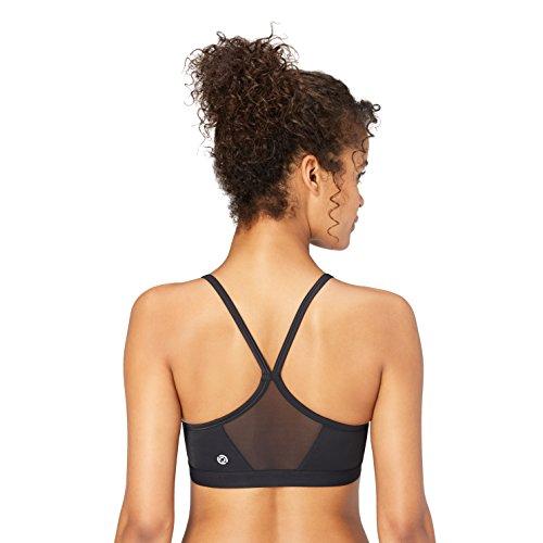 Amazon Brand - Core 10 Women's Light Support Simple Strappy Sports Bra, 36A/B,Black