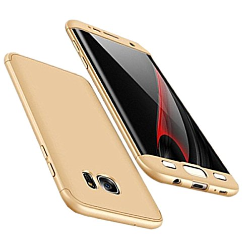 Price comparison product image Beryerbi Samsung Galaxy s7/s7 Edge Stylish Thin Hard Case With 3 Detachable Parts Protection Cover (Galaxy s7 Gold)