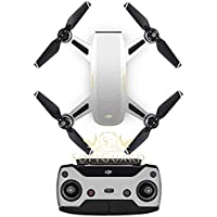 SopiGuard Matte Silver Metallic Fiber Precision Edge-to-Edge Coverage Vinyl Sticker Skin Controller 3 x Battery Wraps for DJI Spark