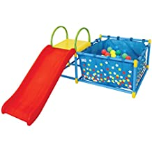 Active Play 3 in 1 Jungle Gym Foldable PlaySet – Includes Slide, Ball Pit, & Toss Target with 50 Colorful Balls