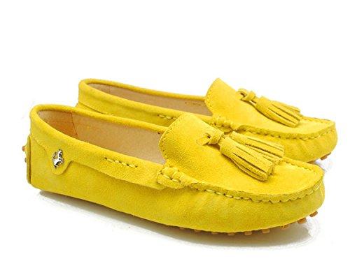 Minitoo , Sandales Compensées femme - jaune - jaune,