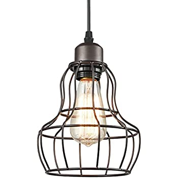 caged lighting. yobo lighting minimalist 1light oil rubbed bronze hanging pendant light loft wire cage guard caged s