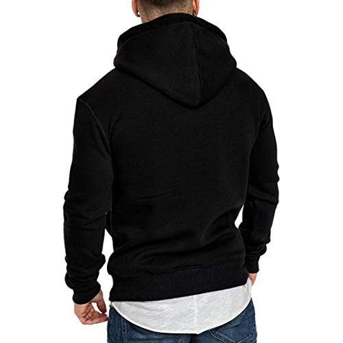 Sweatshirt Hommes À Longues Capuche Décontracté Noir Ihengh Pour Manches vHdqvc
