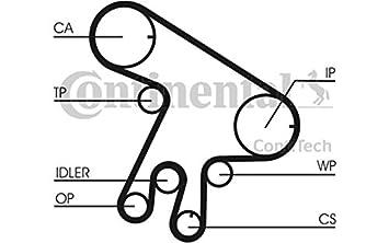 Contitech - Bomba de agua + - Correa de distribución, ct1043wp1: Amazon.es: Coche y moto