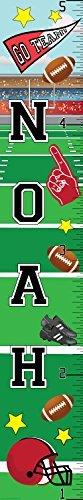 Mona Melisa Designs Customized Football Noah Growth Chart Decorative Wall Sticker [並行輸入品]   B0785PX713