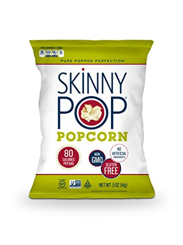 SKINNYPOP Original Popped Popcorn, Individual Bags, Gluten Free Popcorn, Non-GMO, No Artificial Ingredients, A Delicious Source of Fiber, 0.5 Ounce (Pack of 72) by SkinnyPop (Image #3)