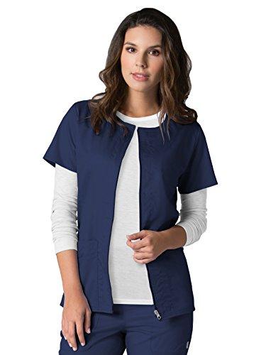 EON Maevn Women's Back Mesh Panel Short Sleeve Zip Front Jacket(True Navy, Small)
