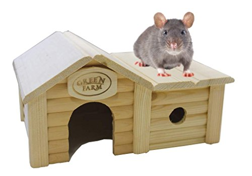 Green Farm Small Animal House with Annex for Hamsters and Mice by Green Farm